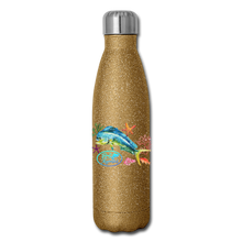 Load image into Gallery viewer, Reel Mermaid Glitter Insulated Stainless Steel Water Bottle - gold glitter