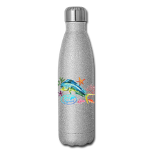 Load image into Gallery viewer, Reel Mermaid Glitter Insulated Stainless Steel Water Bottle - silver glitter