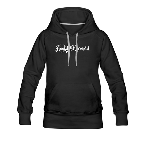 Reel Mermaid Fishing Team Women's Premium Hoodie - black