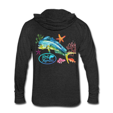 Load image into Gallery viewer, Reel Mermaid Mahi Unisex Tri-Blend Hoodie Shirt - heather black