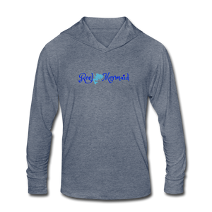 Reel Mermaid Mahi Unisex Tri-Blend Hoodie Shirt - heather blue