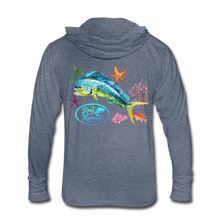 Load image into Gallery viewer, Reel Mermaid Mahi Unisex Tri-Blend Hoodie Shirt - heather blue