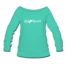 Load image into Gallery viewer, Women's Wideneck Sweatshirt - teal