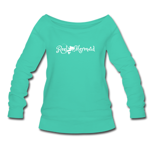 Women's Wideneck Sweatshirt - teal