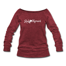 Load image into Gallery viewer, Women's Wideneck Sweatshirt - cardinal triblend