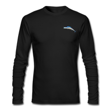 Load image into Gallery viewer, Custom Wahoo Fishing Long Sleeve T-Shirt - black