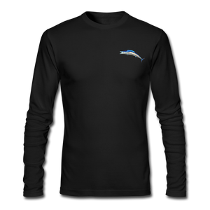 Custom Wahoo Fishing Long Sleeve T-Shirt - black
