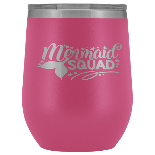 Mermaid Squad Wine Tumbler