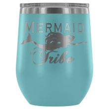 Load image into Gallery viewer, Custom Laser Cut Mermaid Tribe 12oz Wine Tumbler