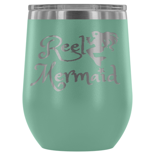Reel Mermaid Laser Engraved 12 oz Tumbler