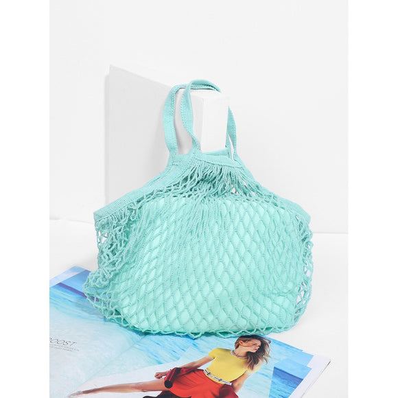 Net Tote Bag With Inner Pouch - Frank's Beauty Supply women wigs,smartwatches,makeup,nail polish