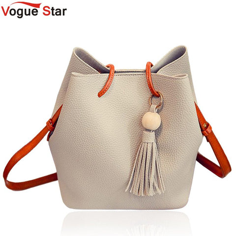 Vogue star Fashion Casual Tassel Women Bag Litchi PU Leather Women Top-handle Bag Single Shoulder Bag Women Crossbody Bag LB175