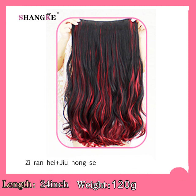 Shangke 24 Long Colored Curly Hair Extensions 5 Clip In Hair Extensi