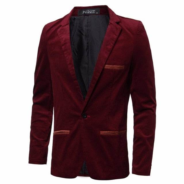 High Street Casual Mens Blazers Slim Fit Suit Jacket Male Blazers Coat Plus M-3XL Mens Clothing Masculino Terno Outwear Luxury