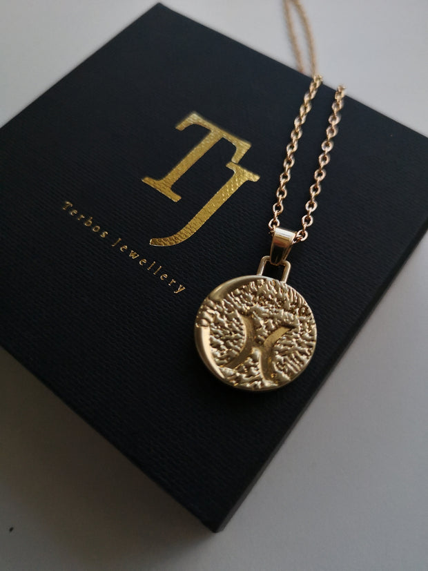 12 Zodiac Sign 18K Gold Plated Double Face Coin Necklaces