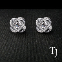 Load image into Gallery viewer, TJ | Sofia Vergara | Love Knot Diamond Sterling Silver Stud Earrings