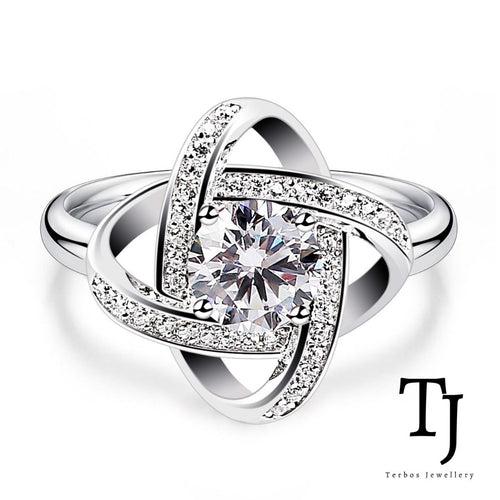 TJ | Sofia Vergara | Love Knot Diamond Sterling Silver Adjustable Ring