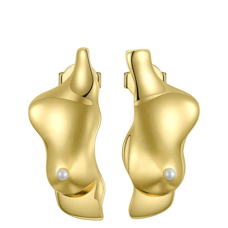ANATOMY | 18K Gold Booby Stud Earrings