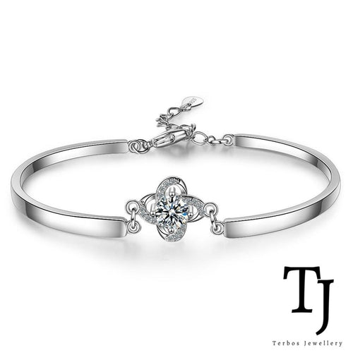 TJ | Sofia Vergara | Love Knot Diamond Sterling Silver Bangle Bracelet