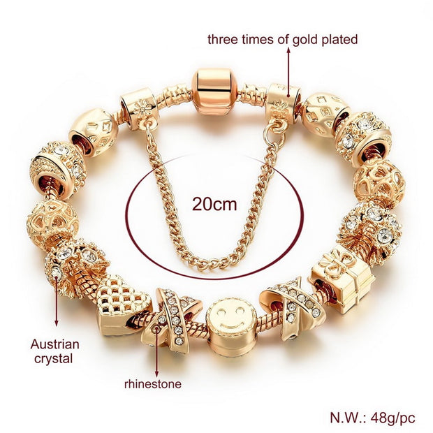 Smiles & Gifts Charm Bracelet Dressed With CZ Diamonds