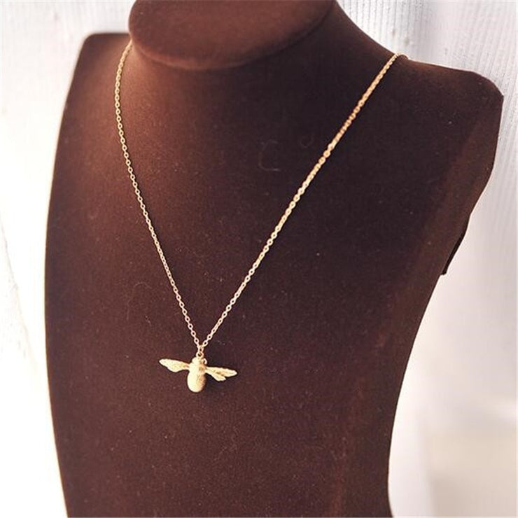 Queen Bee Necklace Gold Plated 925 Sterling Silver