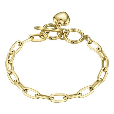 FREEDOM | 18K Gold Chain And Heart Bracelet For Women