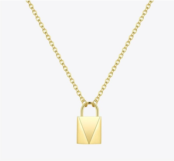 FREEDOM | 18K Gold Padlock Necklace For Women