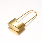 FREEDOM | 18K Gold Padlock Earrings