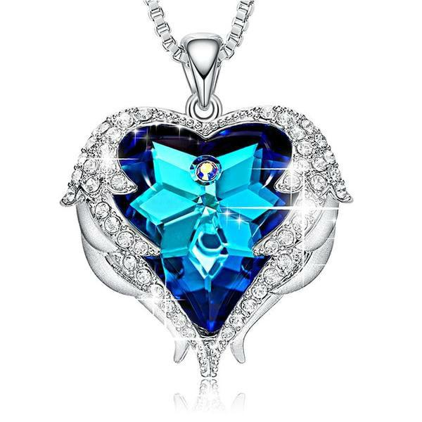 Angel Heart 925 Necklace With Swarovski Crystals