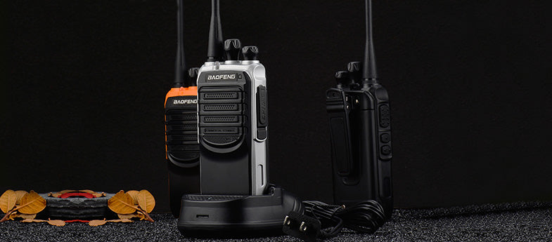 Pack of 10 Walkie Talkies for Adults Rechargeable Wireless Long Range Two Way Radios with Earpiece and Charger Included Treemoo