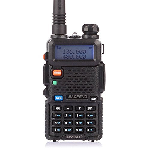 BaoFeng UV-5R Dual Band Two Way Radio Outdoor with LED Flashlight Walkie Talkie for Adults Long Range(Black)