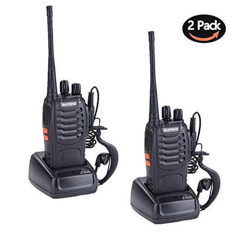 Walkie Talkies 16 Channel Rechargeable Two Way Radios with Li-ion Battery and Charger (Pack of 2/4/6/8)