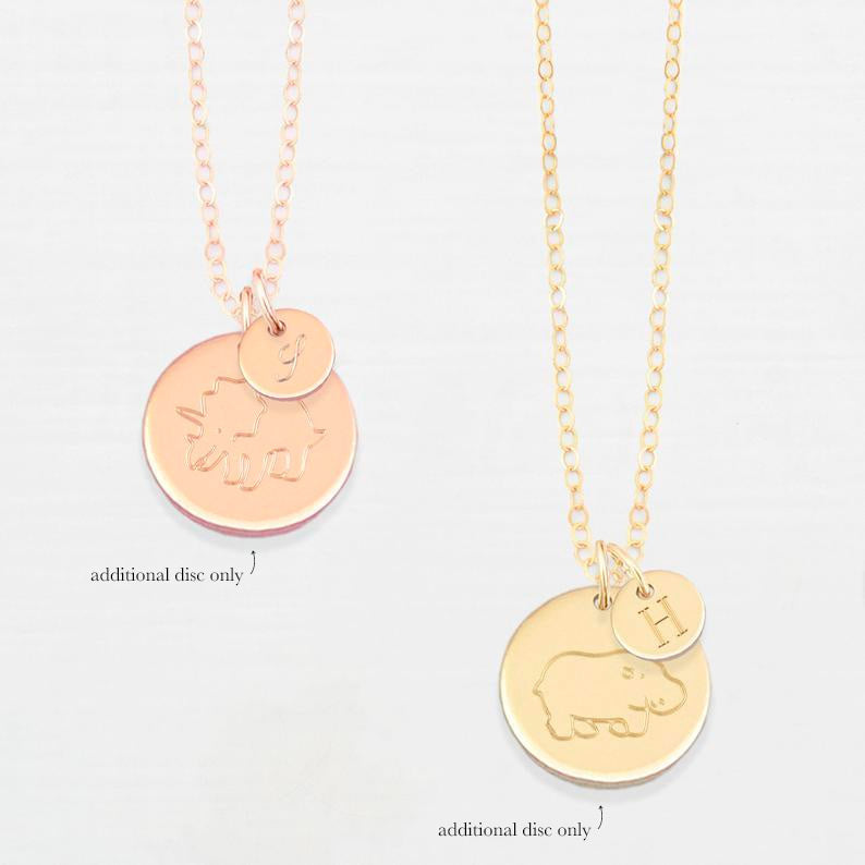 Add an illustrated disc (for our bracelet, necklace, charm & personalised collections)