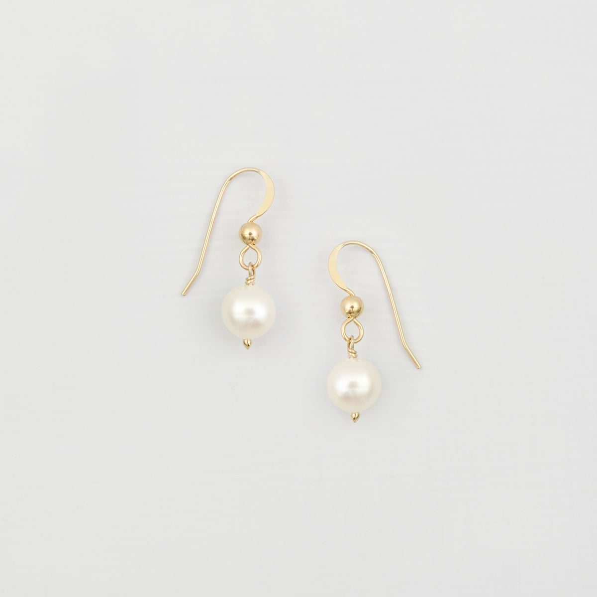 freshwater pearl drop earrings gold filled