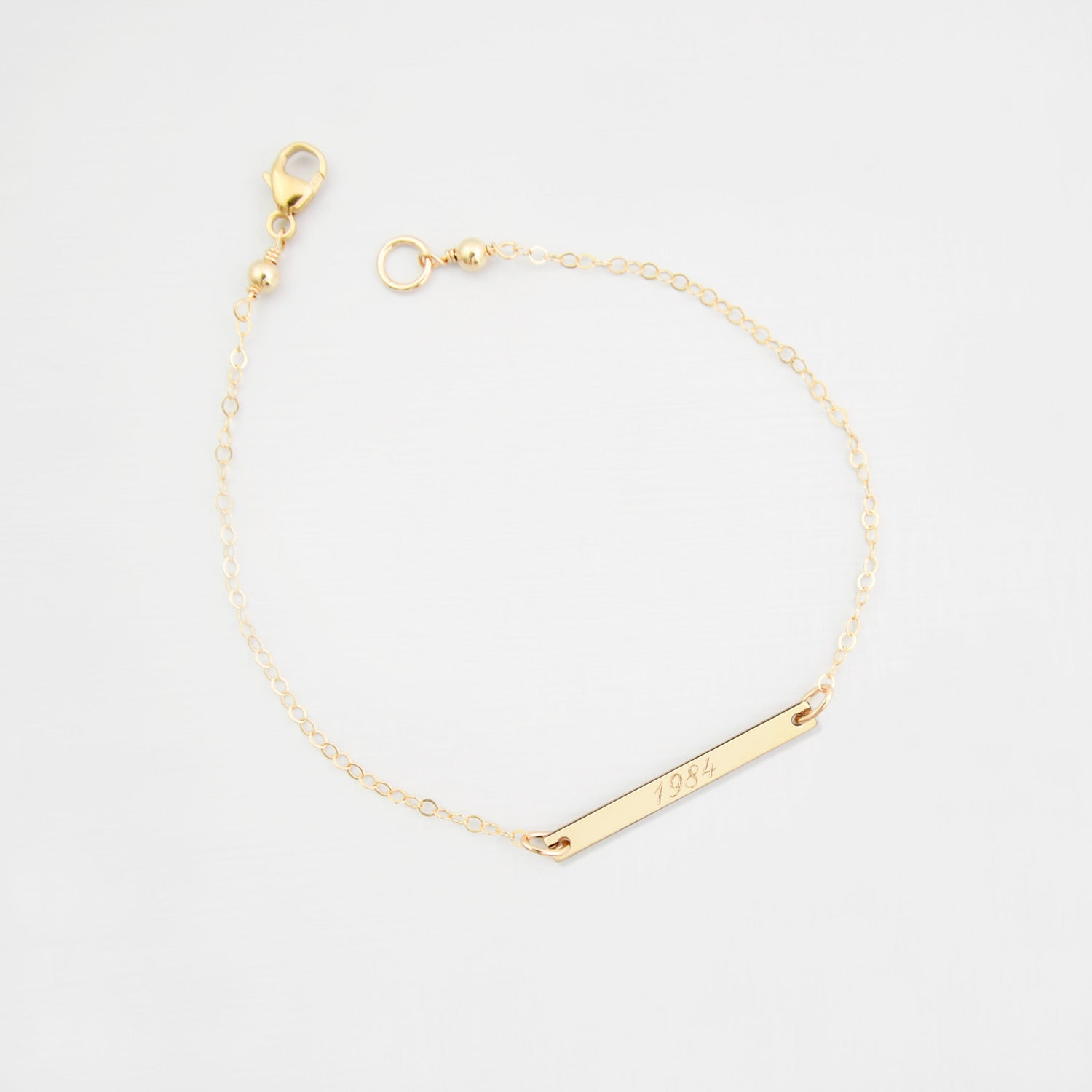 Personalised bar 'date' bracelet 'Anushka'