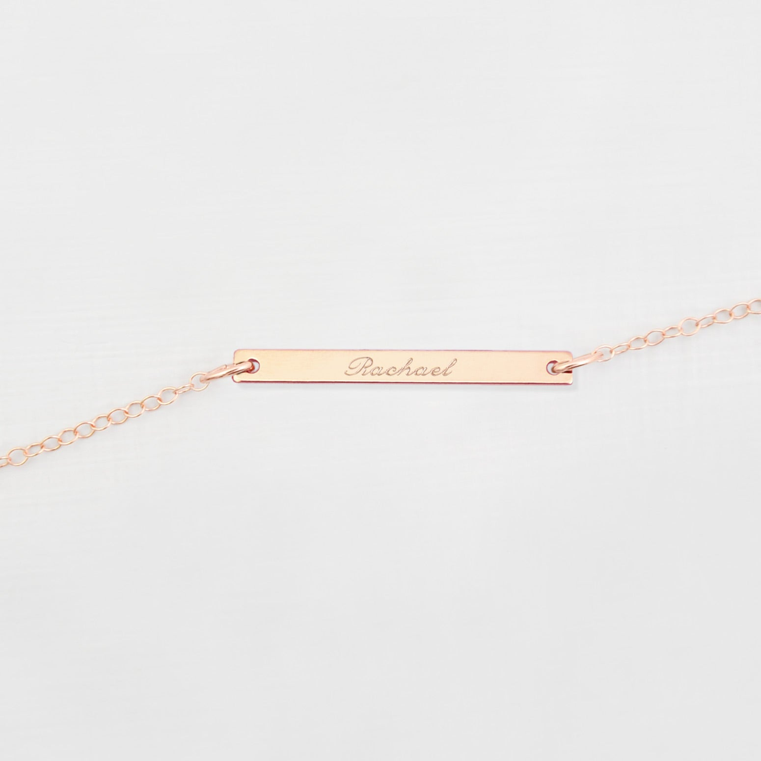 Personalised bar 'name' necklace