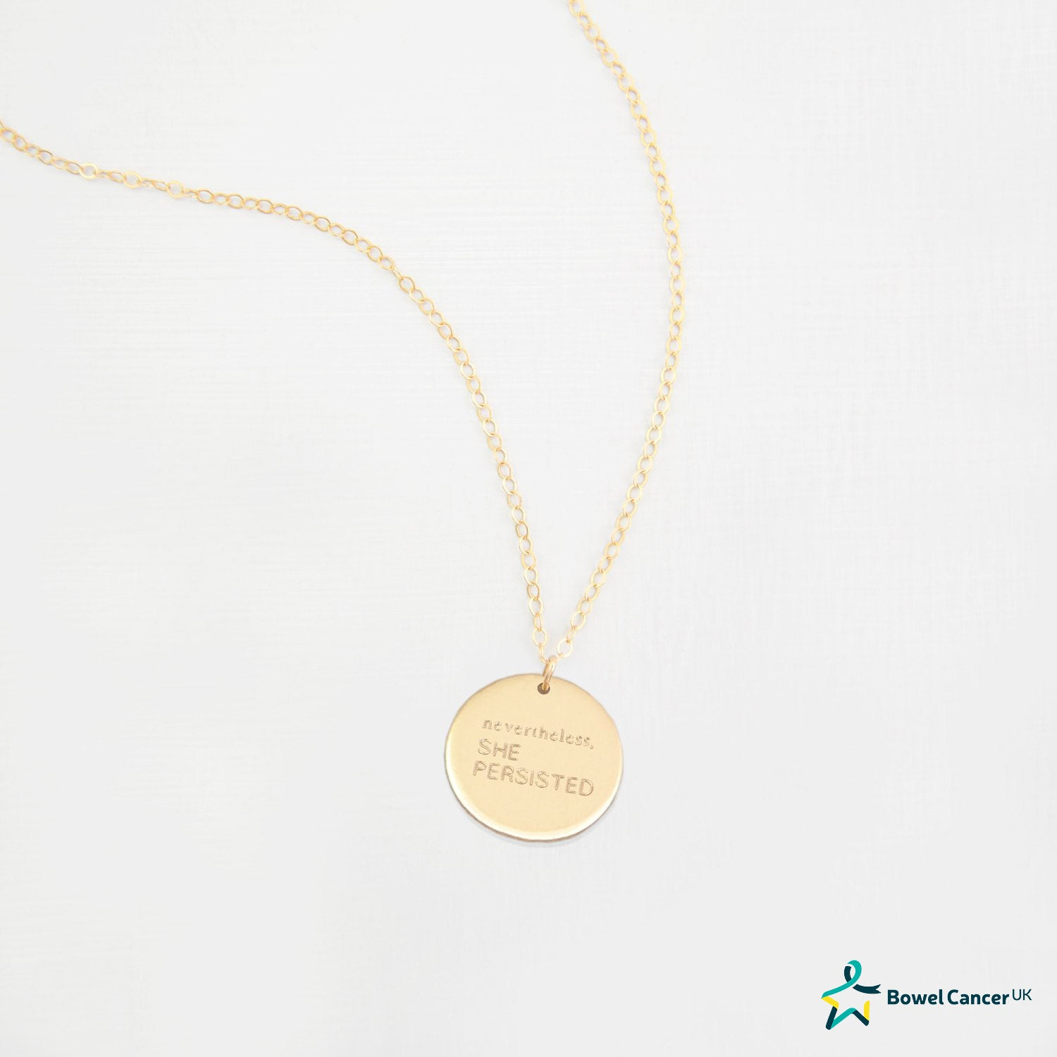Large Disc 'Nevertheless She Persisted' Necklace 'Amy'