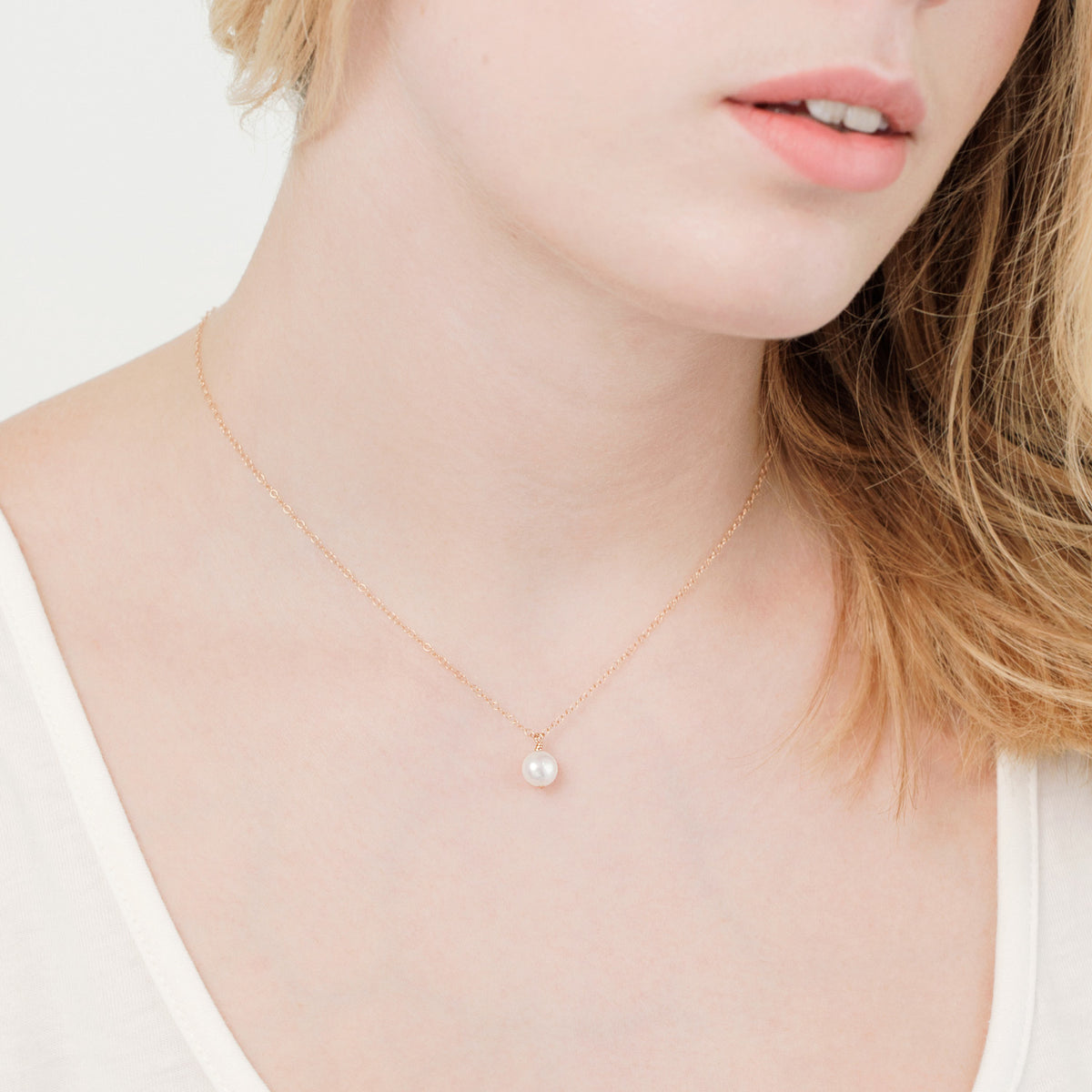 Pearl drop necklace 'Naya'