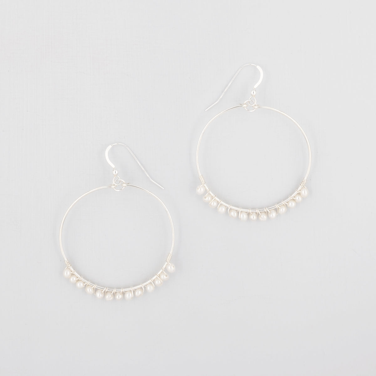 Pearl hoop earrings 'Lyla'