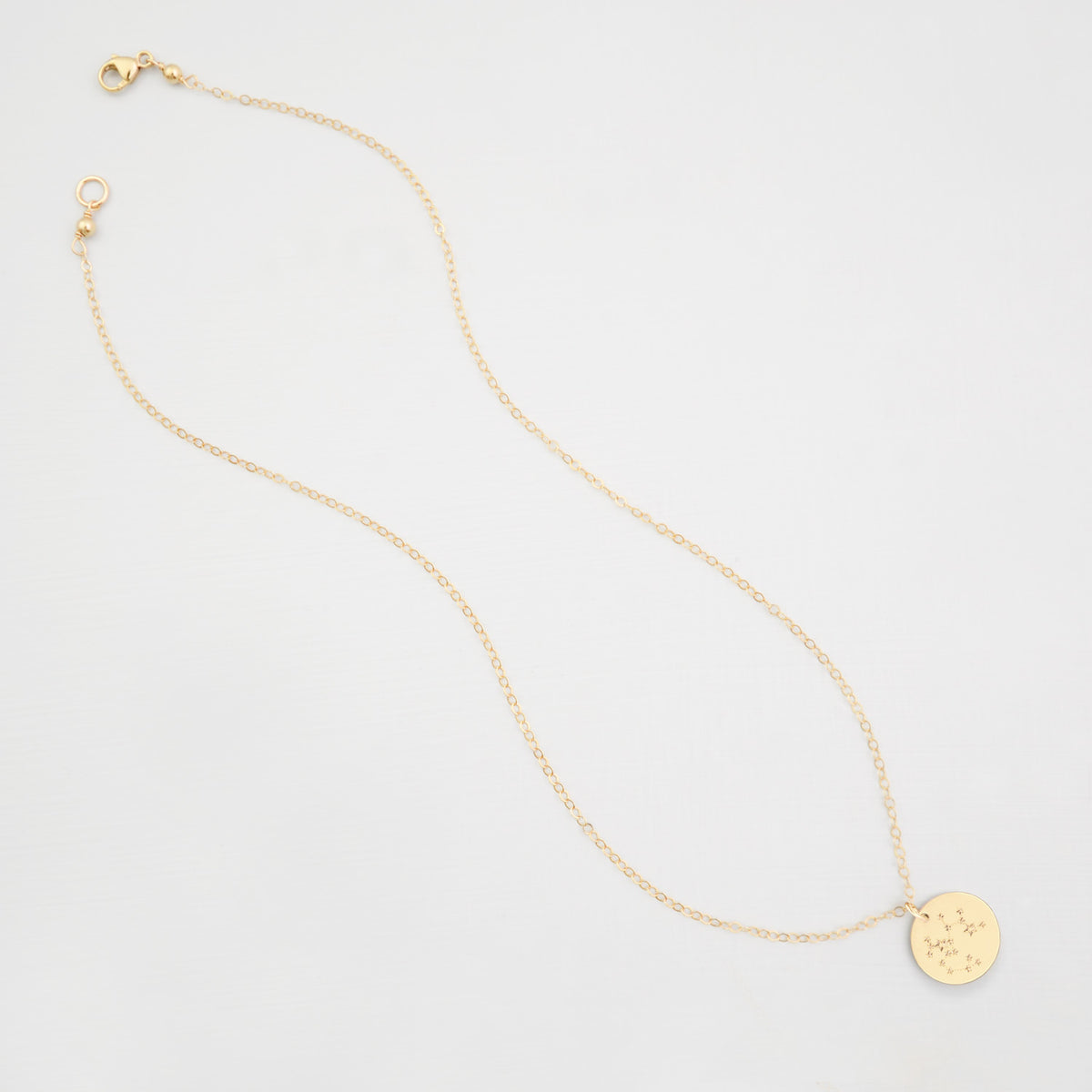 zodiac constellation disk necklace
