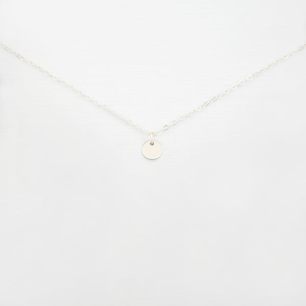 How to Care for Sterling Silver Jewellery | Tiny Disc Necklace 'Uri| Britten Anthology