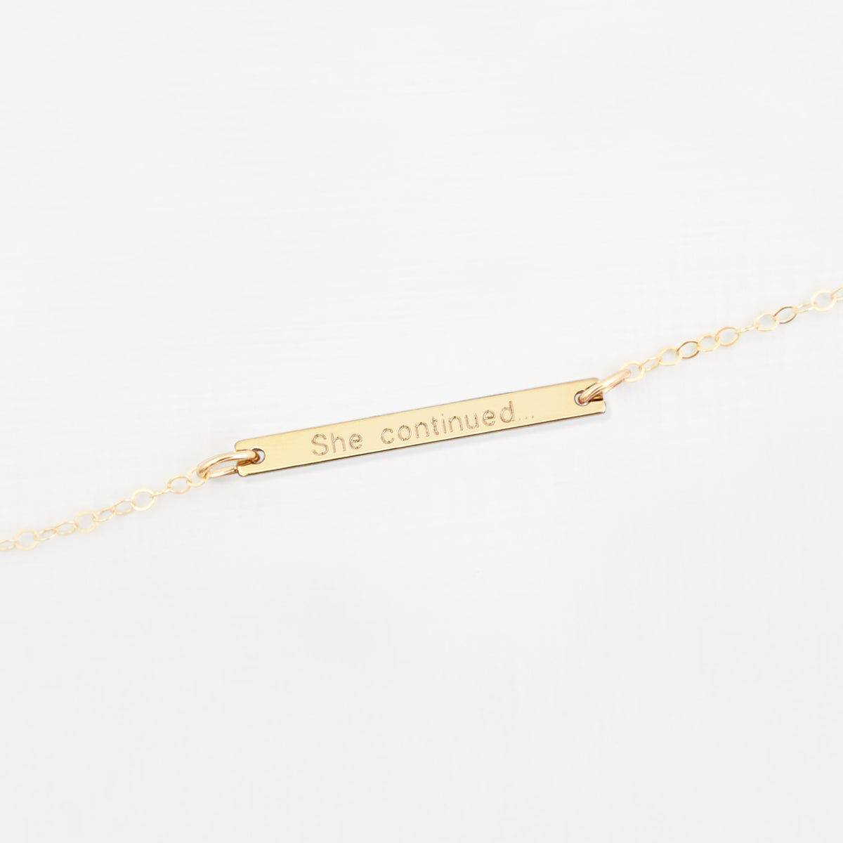 personalised bar bracelet