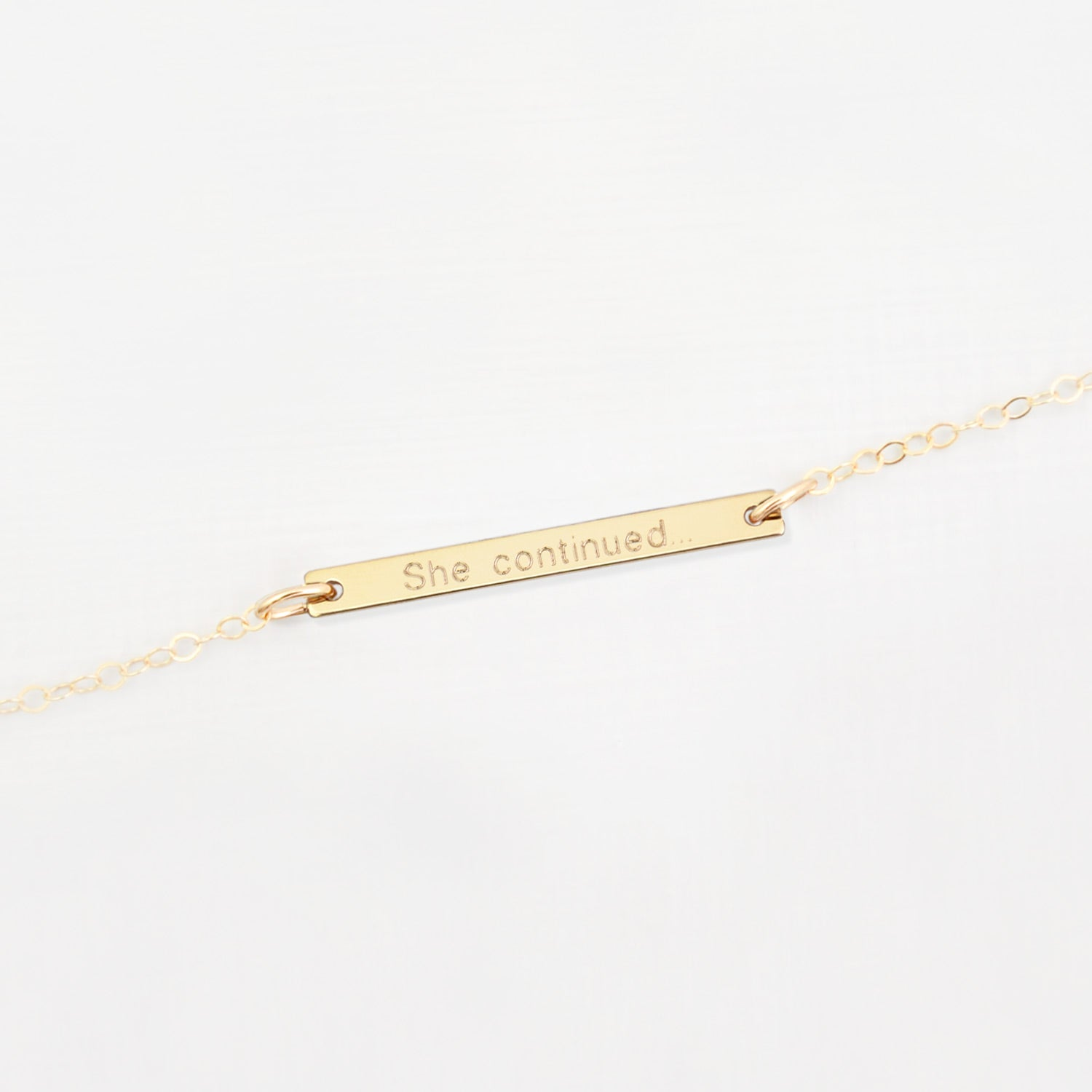 Personalised Bar 'Inspirational' Bracelet 'Priya'