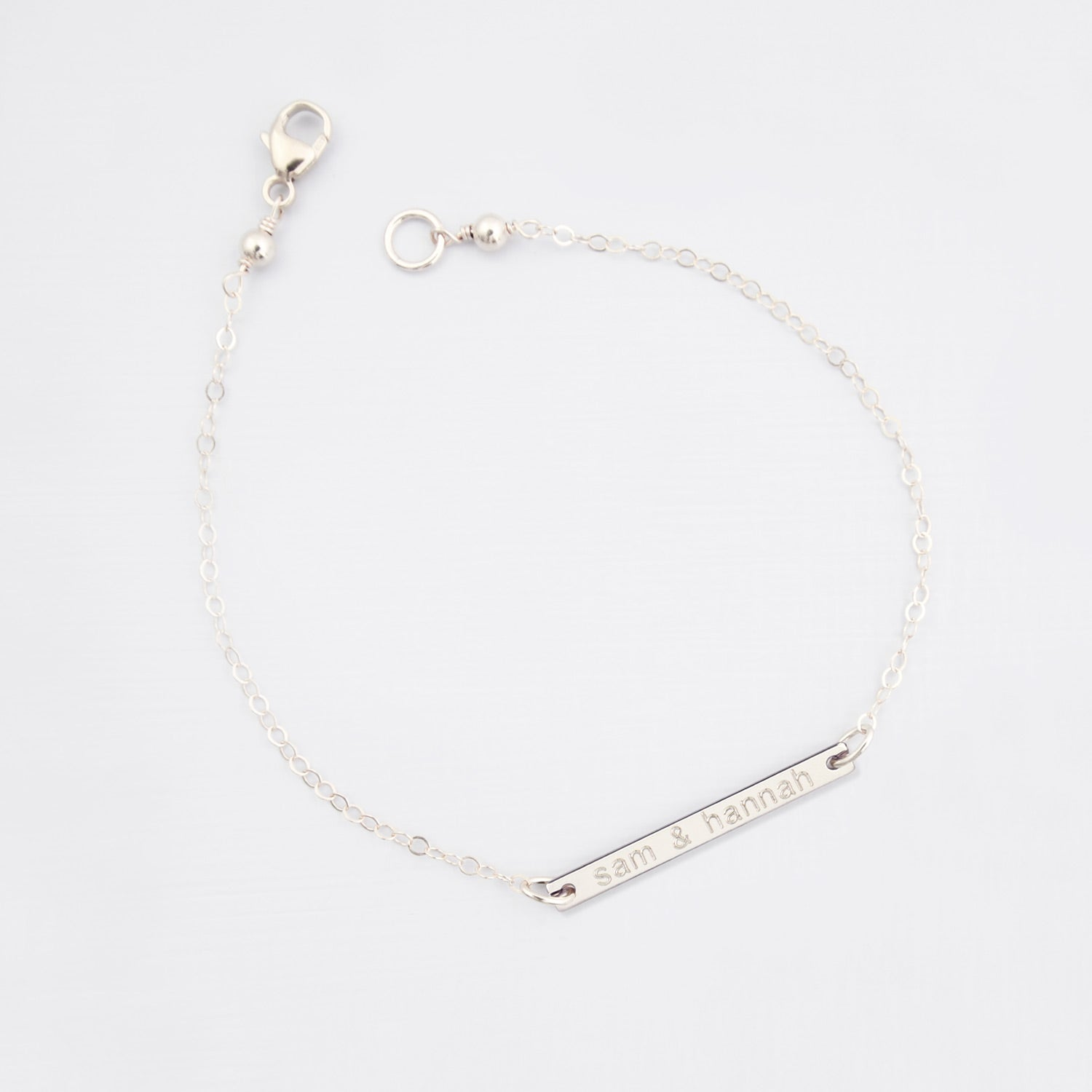 Personalised bar 'love' bracelet 'Leonie'