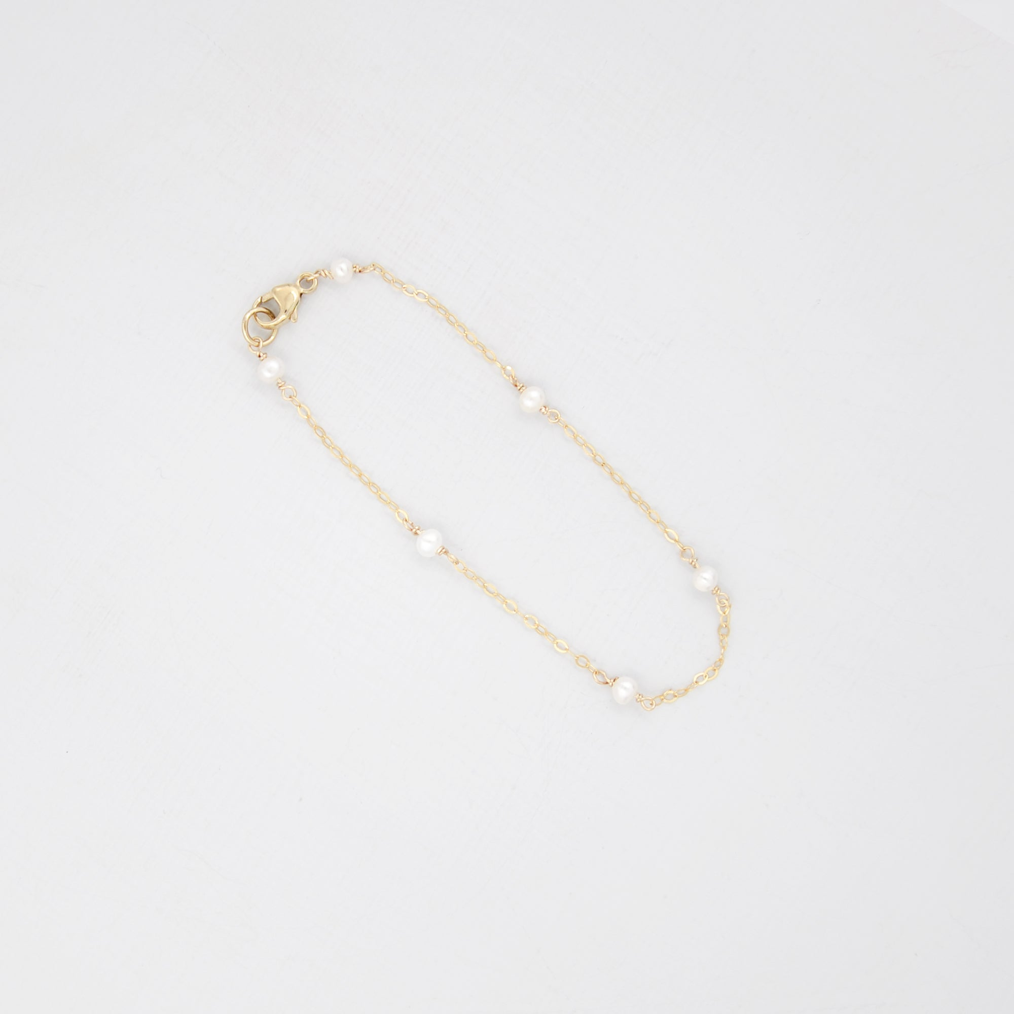 gold filled pearl bracelet