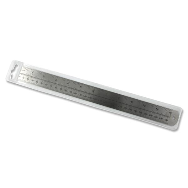 "12""/30cm Deadlength Steel Ruler"