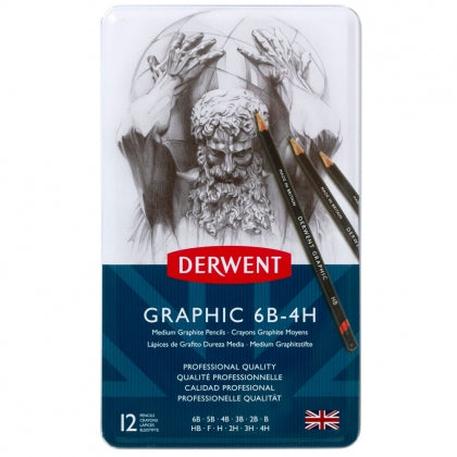 Derwent - Graphic Medium (Designer) Pencil - 12 Tin