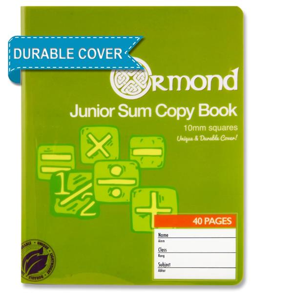 40Pg 10Mm Sq Durable Cover Junior Sum Copy