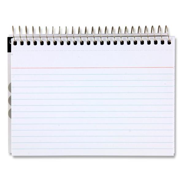 "Office Pkt.50 6""x 4"" Spiral Ruled Index Cards - White"