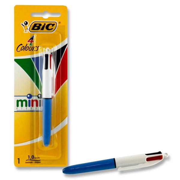 Bic 4 Colour Mini Ballpoint Pen